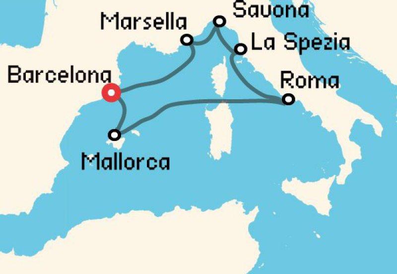 crucero por el mediterráneo para estudiantes